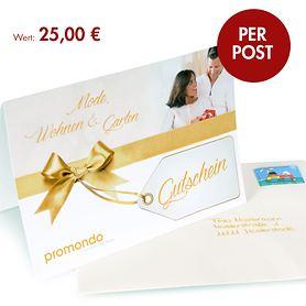Geschenk-Gutscheine per Post