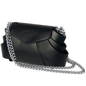 Leder-Handtasche Evita schwarz