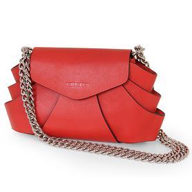 Leder-Handtasche Evita rot
