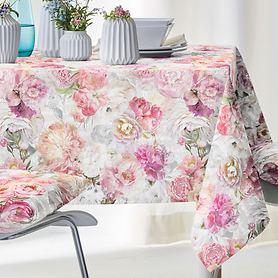 Tischdecke Pfingstrosen rosé 150x250