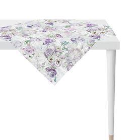 Tischdecke Pfingstrosen lila 100x100