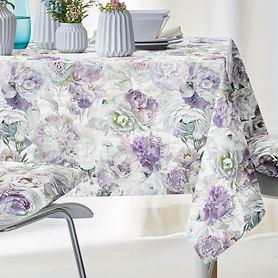 Tischdecke Pfingstrosen lila 150x250