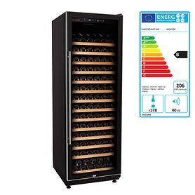 Einzonen-Weinkühlschrank, einbaufähig,ca. 200Fl.