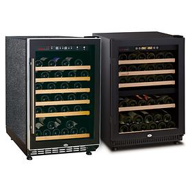 Ein- & Zweizonen-Weinkühlschränke, einbaufähig,40 - 50Fl.