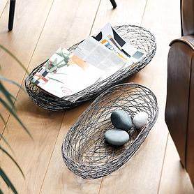 Design-Drahtkörbe Nest 2er-Set