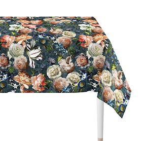 Tischdecke Herbstrosen 150x250