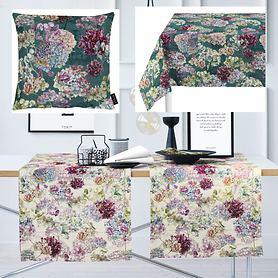 Textil-Serie Hortensienblüten