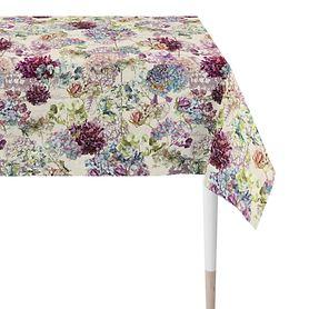 Tischdecke Hortensienblüten weiß 150x250