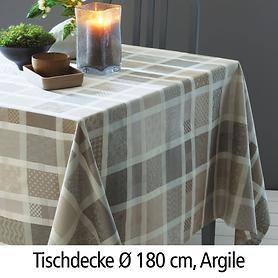 Tischdecke Mille Ladies Argile D: 180