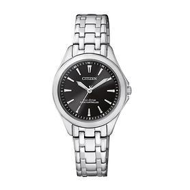 Citizen-Damen-Uhr Eco Classic schwarz