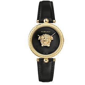 Versace-Uhr Palazzo schwarz