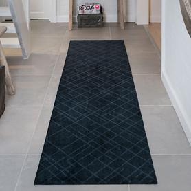 Teppichläufer Lines schwarz, 67 x 250 cm