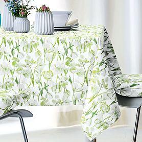 Tischdecke Springtime grün 100x100cm