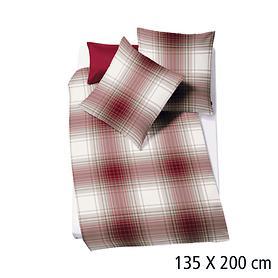 Bettwäsche rot/weiß 135x200 cm Oslo