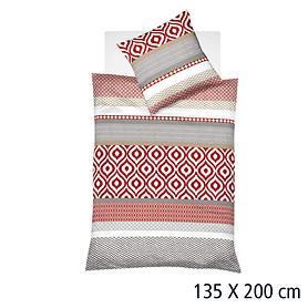 Bettwäsche rot/weiß 135x200 cm Aspen