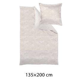 Mako-Brokat-Damast-Bettewäsche Calista beige 135x200