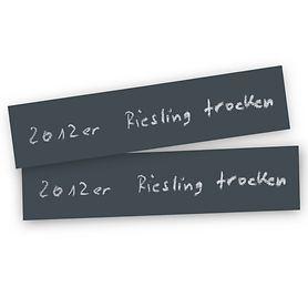 Beschriftungssystem Kreidetafel in Schieferoptik, groß, 2er-Set