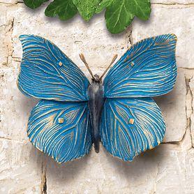 Skulptur Schmetterling blau