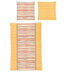 Bettwäsche Capri gelb/grau 155x220cm