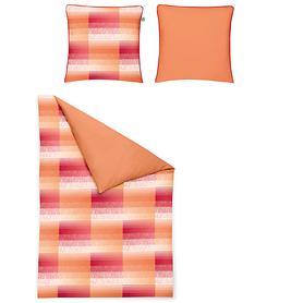 Wendebettwäsche Neapel rot/orange 155x220cm