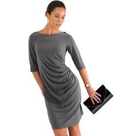 Raffiniert gerafftes Kleid aus Modal-Mix
