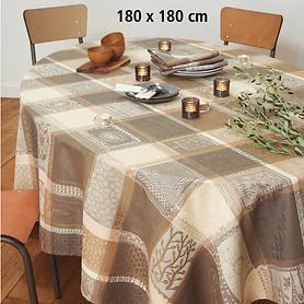 Tischdecke Millie Wax Argile, 180 x 180 cm