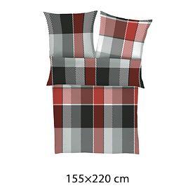 mako-satin-bettwasche-sleep-rot-grau-155x220, 69.95 EUR @ promondo-de