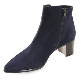 Stiefelette Pova blau velours Gr. 41