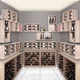 Wand-Weinregal CAVEPRO SMALL & CAVEPRO für 4 Flaschen