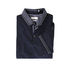 Poloshirt Davidd-blau,Gr.XXL