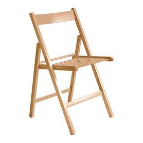 Klapp-Stuhl, 4er-Set, natur