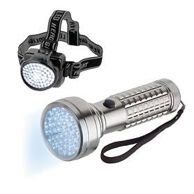 LED-Taschenlampe Lumatic Starlight & LED-Stirnlampe