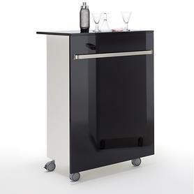 Bar-Wagen Jacky schwarz H 80 x B 113 x  T 52 cm