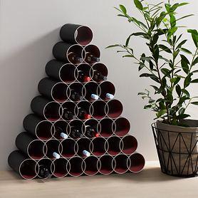 WeinregalRondo aus patentierten, recycelbaren Hartpapierhülsen