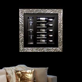 Klimatisiertes Wand-Weinregal QUADRO VINO, 5 Flaschen