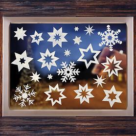 fensterdekoration-sternen-set-21-tlg-