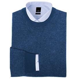 Kaschmir-Pullover dunkelblau Gr. L
