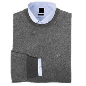 Kaschmir-Pullover grau Gr.XL