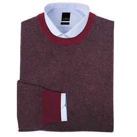 Kaschmir-Pullover bordeaux Gr. L