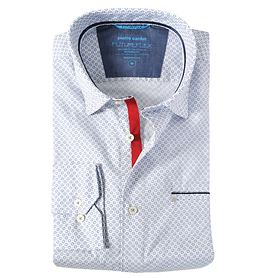 Hemd Finn weiß/blau Gr. M