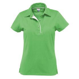 Damen-Poloshirt Pique, grün