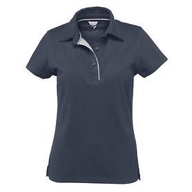 Damen-Poloshirt Pique, navy
