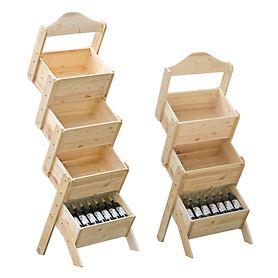 Verkaufsständer PISA mit 3 oder 4 Kisten