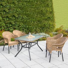 Set 2 Ravenna eckiger Tisch 4 Stühle Deal