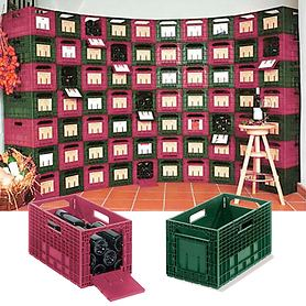 Wein-Lagerboxen, 6er Set