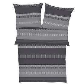 bettwasche-lines-grau-155x220-cm, 79.95 EUR @ promondo-de