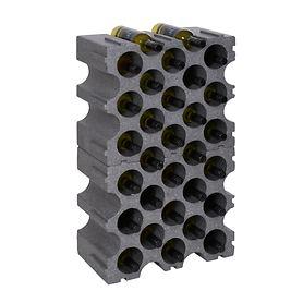 Kunststoff-Weinregal STONE 2er-Set für 30 Flaschen