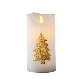 LED-Kerze Tree gold