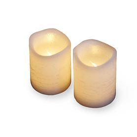 LED-Kerzen 2er-Set weiß