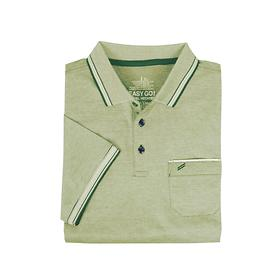 Herren-Poloshirt, grün, Gr.M